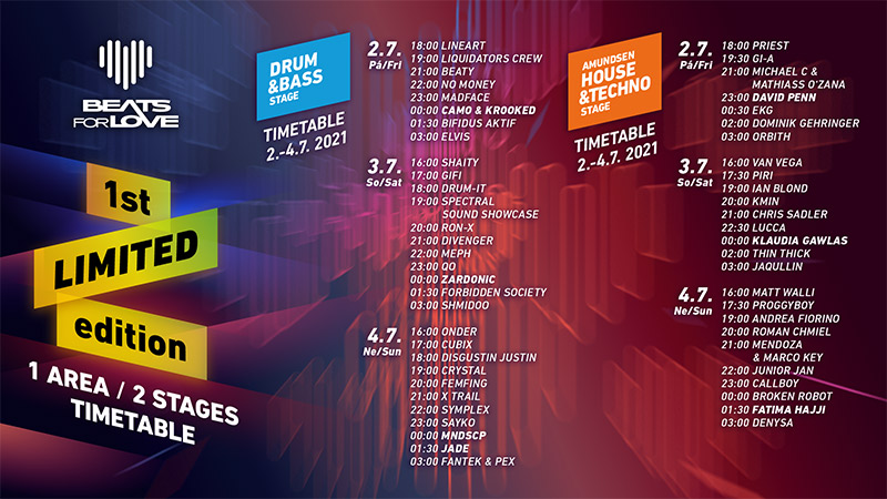 B4Love 1stLTD timetable horizontal